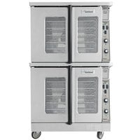Garland MCO-GD-20S Natural Gas Double Deck Deep Depth Full Size Convection Oven with Analog Controls - 120,000 BTU