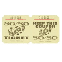 Yellow 50/50 Marquee Raffle Tickets - 1000/Roll