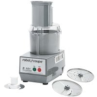 Robot Coupe R101P Combination Cutter and Vegetable Slicer with 2.5 Qt. Gray Polycarbonate Bowl - 3/4 hp