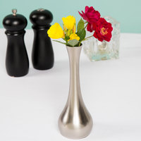 Tablecraft 269 7 inch Metal Tear Drop Bud Vase