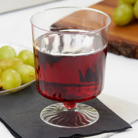 Fineline Flairware 2208 8 oz. 1-Piece Clear Plastic Wine Cup - 240/Case