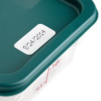 Noble Products 1 inch x 2 inch Blank Dissolving Product Label with Dispenser Carton - 500/Roll