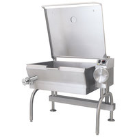 Cleveland SEL-40-T1 40 Gallon PowerPan Electric Open Base Tilt Skillet - 208V, 3 Phase, 18 kW