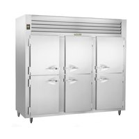 Traulsen RLT332WUT-HHS Stainless Steel 79 Cu. Ft. Three-Section Solid Half Door Reach-In Freezer - Specification Line