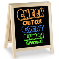 Aarco TA-11 14 inch x 12 inch Tabletop A-Frame Sign with Black Marker Board