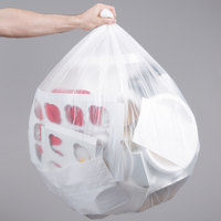 45 Gallon 16 Micron 40 inch x 48 inch Lavex Janitorial High Density Can Liner / Trash Bag - 250/Case
