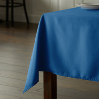 Intedge 64 inch x 110 inch Rectangular Light Blue 100% Polyester Hemmed Cloth Table Cover