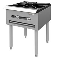 Garland SP-1844-2 Liquid Propane Double Countertop Stock Pot Stove with 6 inch Legs - 90,000 BTU