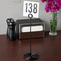 American Metalcraft NSB12 12 inch Black Swirl Base Card Holder