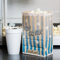 Bagcraft Packaging 300612 5 1/2 inch x 3 1/4 inch x 8 5/8 inch 85 oz. EcoCraft Popcorn Bag - 500/Case