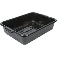 Choice 20 inch x 15 inch x 5 inch Black Polyethylene Plastic Bus Tub, Bus Box