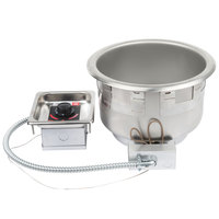 APW Wyott SM-50-11DUL 208/240HP 11 Qt. Round Drop In Soup Well with Drain - 208/240V