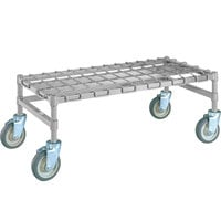Metro MHP33S 36 inch x 18 inch x 14 inch Heavy Duty Mobile Stainless Steel Dunnage Rack with Wire Mat - 900 lb. Capacity