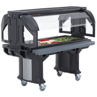 Cambro VBR6110 Black 6' Versa Food / Salad Bar with Standard Casters