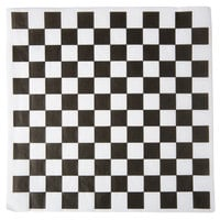Choice 12 inch x 12 inch Black Check Deli Sandwich Wrap Paper - 5000/Case
