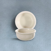 CAC REC-42 6 oz. Ivory (American White) Rolled Edge China Bowl - 48/Case