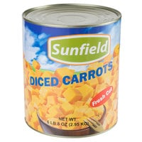 Diced Carrots - #10 Can - 6/Case