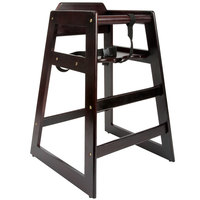 Lancaster Table U0026 Seating Ready To Assemble Stacking Restaurant Wood High  Chair With Dark