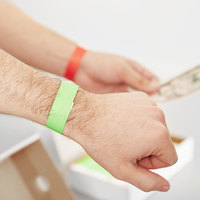 3/4 inch x 10 inch Green Disposable Tyvek® Wristband - 1000/Box