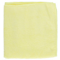 Knuckle Buster MFMP16YE 16 inch x 16 inch Yellow Microfiber Cleaning Cloth - 12/Pack