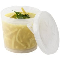 GET EC-13 16 oz. Clear Customizable Reusable Eco-Takeouts Soup Container - 12/Case