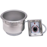 APW Wyott SM-50-11 UL 120V HP High Performance / Fast Recovery Drop In 11 Qt. Soup Well with EZ Lock - 120V