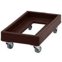 Cambro CD1327131 300 lb. Dark Brown Camdolly Milk Crate Dolly