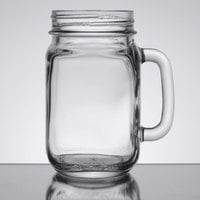 Libbey 97084 16 oz. Drinking Jar / Mason Jar with Handle - 12/Case