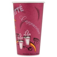 Solo 420SI-0041 Bistro Print 20 oz. Poly Paper Hot Cup - 600/Case