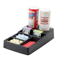 Carlisle 1082803 6 Compartment Coffee Condiment Caddy Organizer