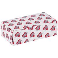 5 1/2 inch x 2 3/4 inch x 1 3/4 inch 1-Piece 1/2 lb. Heart Candy Box   - 250/Case