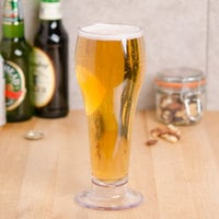 GET SW-1417-1-SAN-CL 22 oz. Customizable SAN Plastic Footed Pilsner Glass - 24/Case