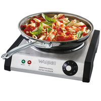 Waring WEB300 Single Burner Solid Top Countertop Range - 1300W