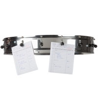 Carlisle 3816CH 18 inch Stainless Steel 16 Clip Ceiling Mounted Order Wheel Ticket Holder