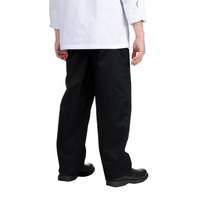 Chef Revival Unisex Solid Black Baggy Chef Pants - Extra Small