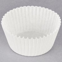 Hoffmaster 610050 2 1/4 inch x 1 3/8 inch White Fluted Baking Cup - 500/Pack