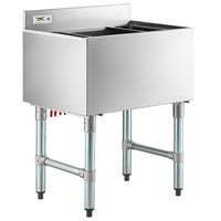 "Regency 18"" x 24"" Underbar Ice Bin with 7 Circuit Post-Mix Cold Plate and Bottle Holders - 77 lb."