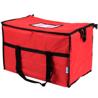 Choice Insulated Leakproof Cooler Bag / Soft Cooler, Red Nylon, 22 inch x 13 inch x 14 inch