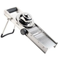 Stainless Steel Mandoline Slicer with 4 Built-In Blades