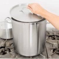 Vollrath 3506 Optio 27 Qt. Stainless Steel Stock Pot with Cover