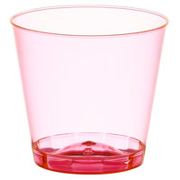 Fineline Quenchers 401-RD 1 oz. Neon Red Hard Plastic Shot Cup - 2500/Case