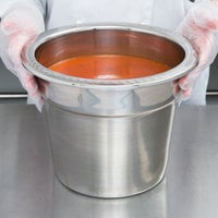 Vollrath 8230010 Miramar® 7 Qt. Stainless Steel Soup Inset with Embossed Rim