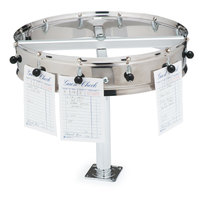 Carlisle 3812CM 12 inch Stainless Steel 12 Clip Counter Mounted Order Wheel Ticket Holder