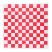 Choice 15 inch x 15 inch Red Check Deli Sandwich Wrap Paper - 1000/Pack