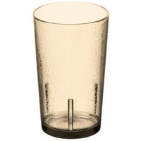 Cambro D12609 Del Mar 12 oz. Light Amber Customizable SAN Plastic Tumbler - 36/Case