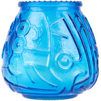 Sterno 40120 4 1/8 inch Blue Venetian Candle - 12/Pack