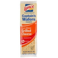 Lance Captain's Wafers Grilled Cheese Sandwich Crackers 20 Count Box - 6/Case