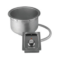 Wells SS8TDU 7 Qt. Round Drop-In Soup Well with Drain - Top Mount, Thermostatic Control, 208/240V