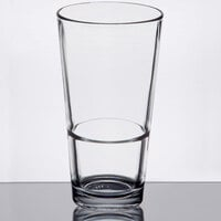 Libbey 15730 Restaurant Basics 17.25 oz. Customizable Rim Tempered Stackable Mixing Glass - 24/Case
