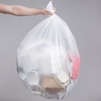 55 Gallon 16 Micron 38 inch x 60 inch Lavex Janitorial High Density Can Liner / Trash Bag - 200/Case